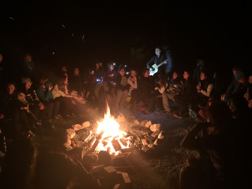 Camps Expeditions Pitt Lake Campfire Music 2
