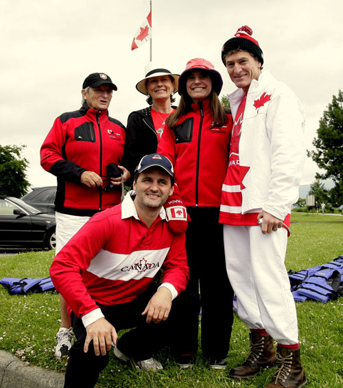 Voyageur Adventures Canada Day participants